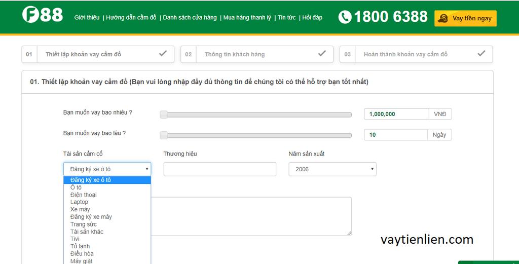 vay tiền online tại F88